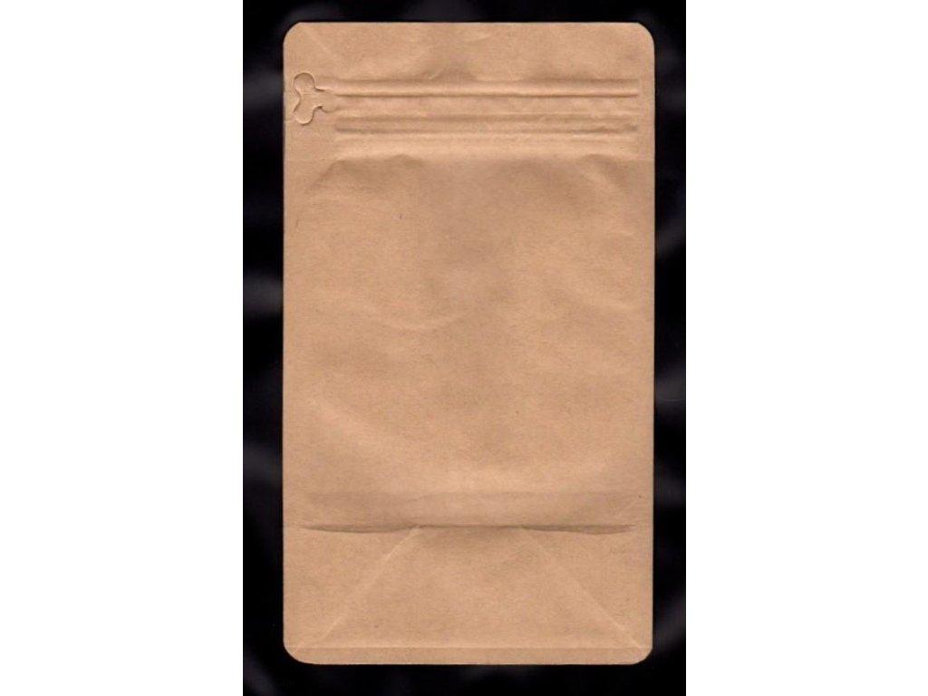 Vrecká na kávu hnedé, zip + ventil 250 g