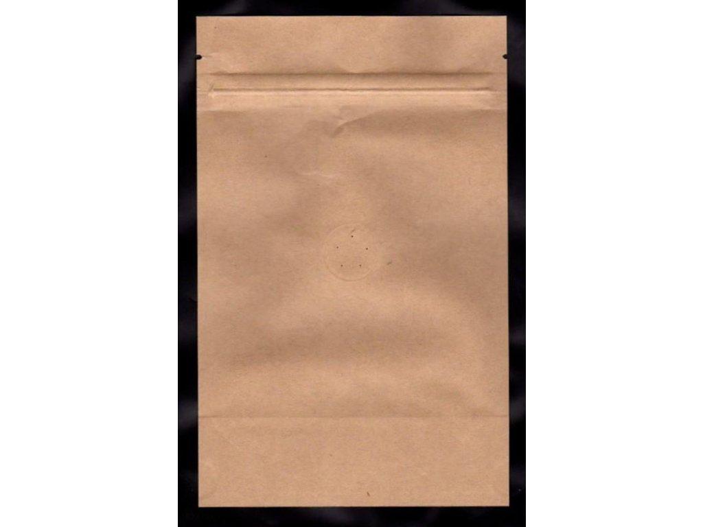 Vrecká na kávu hnedé zip + ventil 125 g
