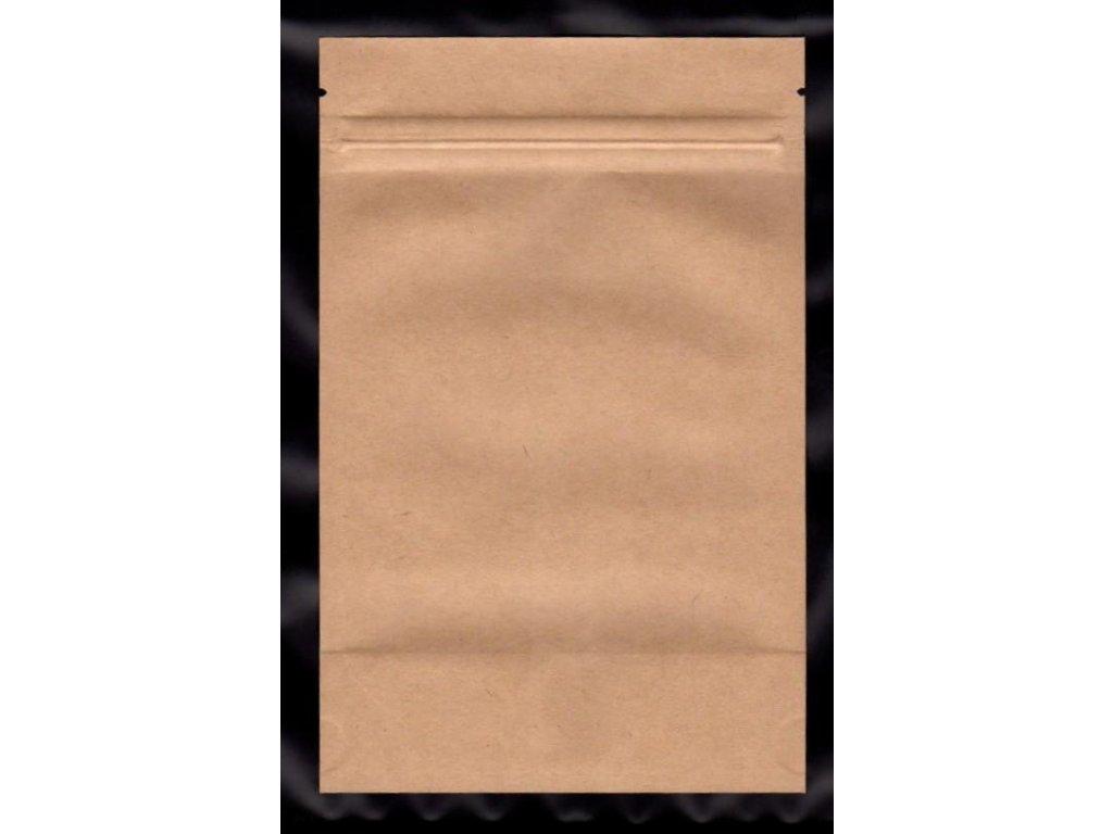 Vrecká na kávu hnedé zip 125 g