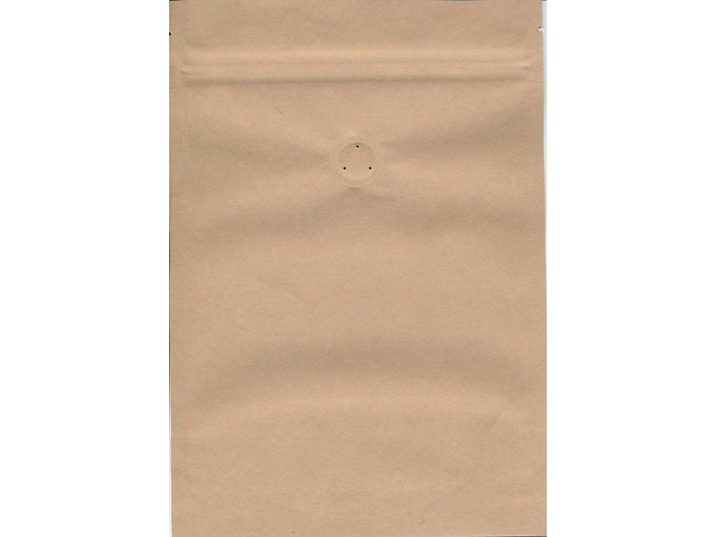 Vrecká na kávu hnedé zip + ventil 250 g