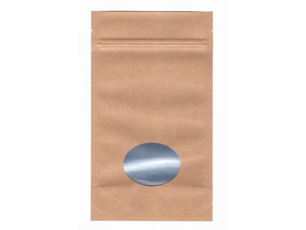 Vrecká na kávu hnedé zip + okienko 250 g
