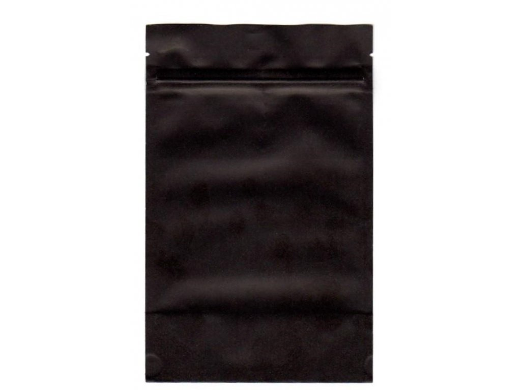 Vrecká na kávu čierne zip 125 g