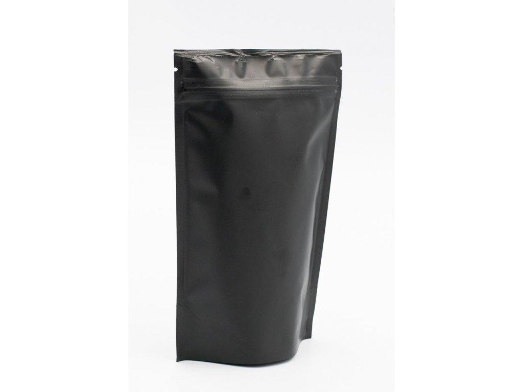 Vrecká na kávu čierne, zip 125 g