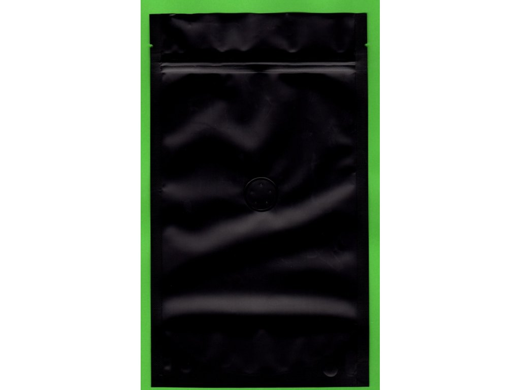 Vrecká na kávu čierne zip + ventil 250 g