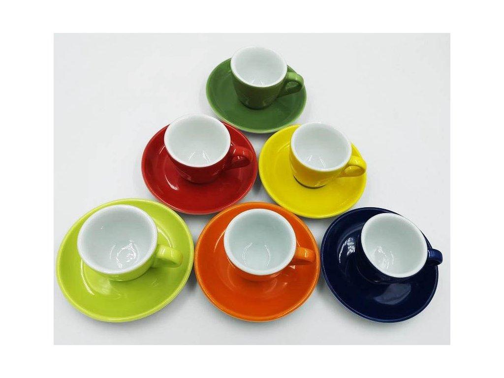 AVX Farebné šálky na espresso 70 ml 6ks