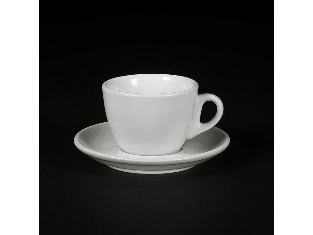 AVX Biele šálky na cappuccino s podšálkou 170ml 6ks