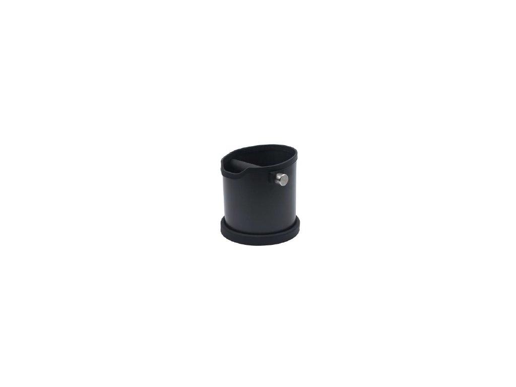 AVX čierny vyklepávač kávy z nehrdzavejúcej ocele