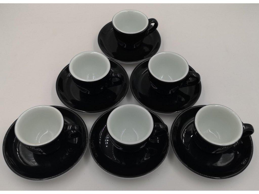 AVX čierne šálky na espresso 70 ml 6ks