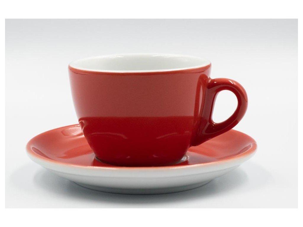AVX Červené šálky na cappucino 170 ml 6ks