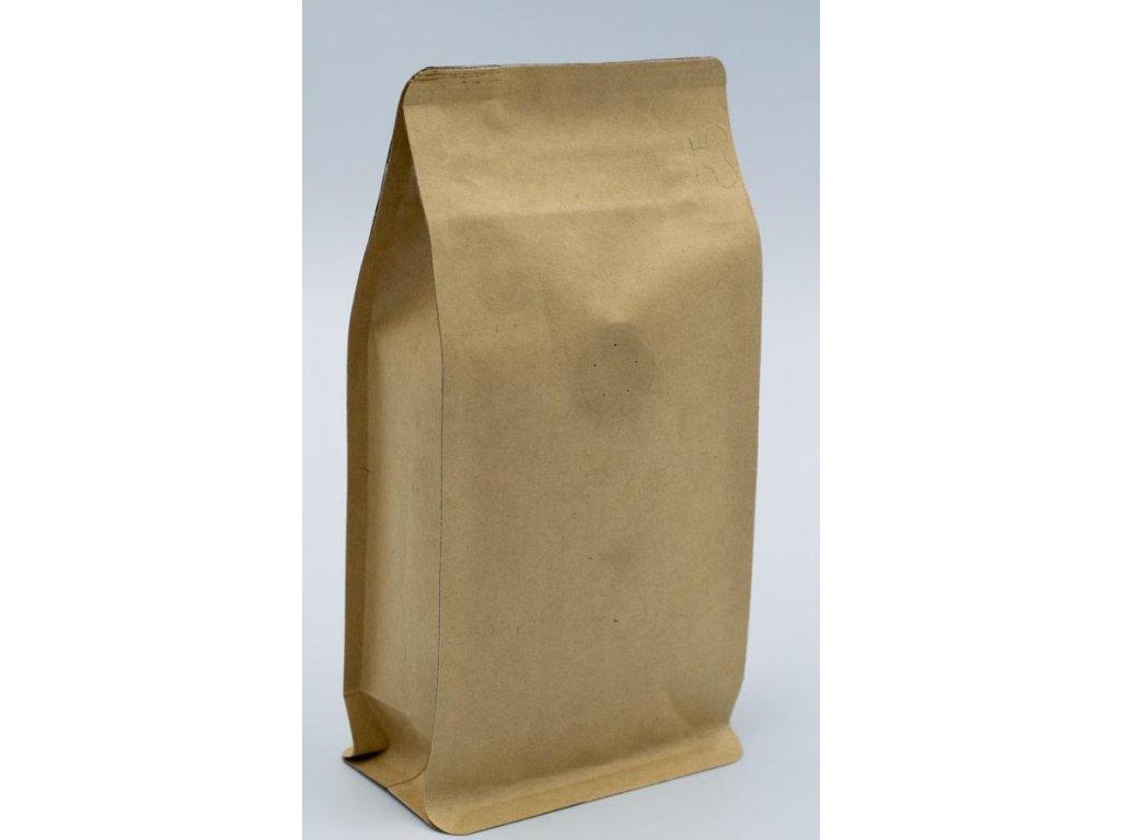 Vrecká na kávu hnedé, zip + ventil 1000g