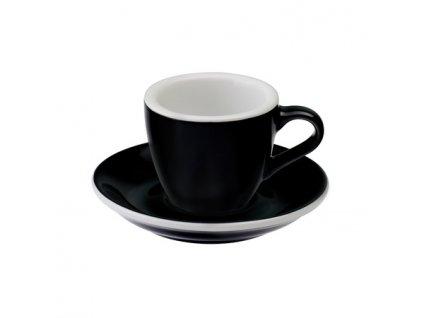 Loveramics Egg Čierne Espresso šálky 80 ml + podšálky 6ks