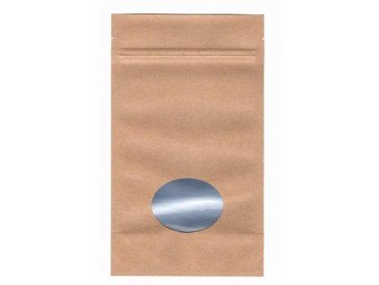 Vrecká na kávu hnedé zip + okienko 125 g