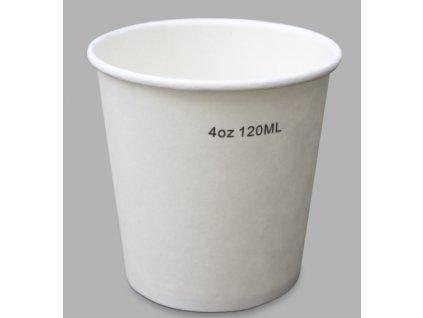 AVX Biele papierové poháre 4oz-120/100ml / 50ks balenie