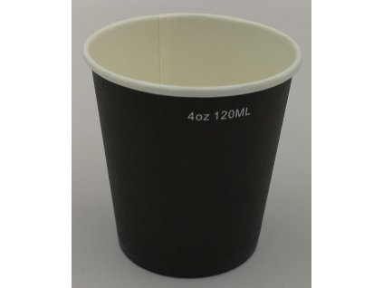 AVX Čierne papierové poháre 4oz-120/100ml / 50ks balenie