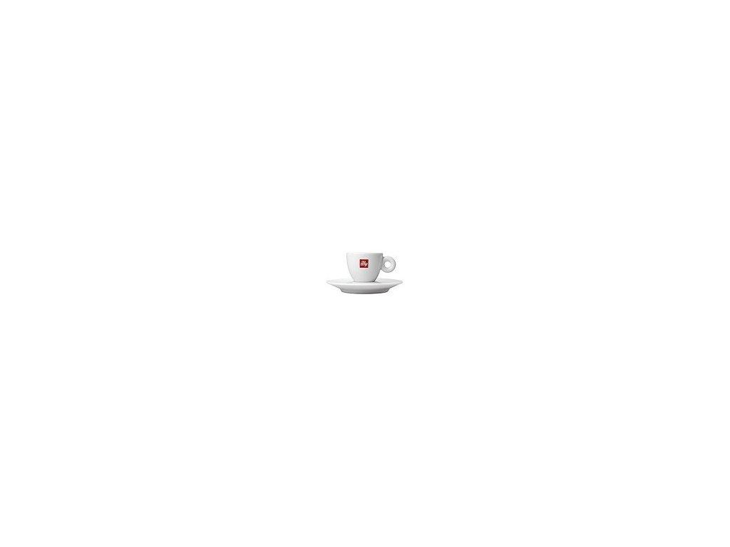 Illy Šálek espresso bílý s podšálkem