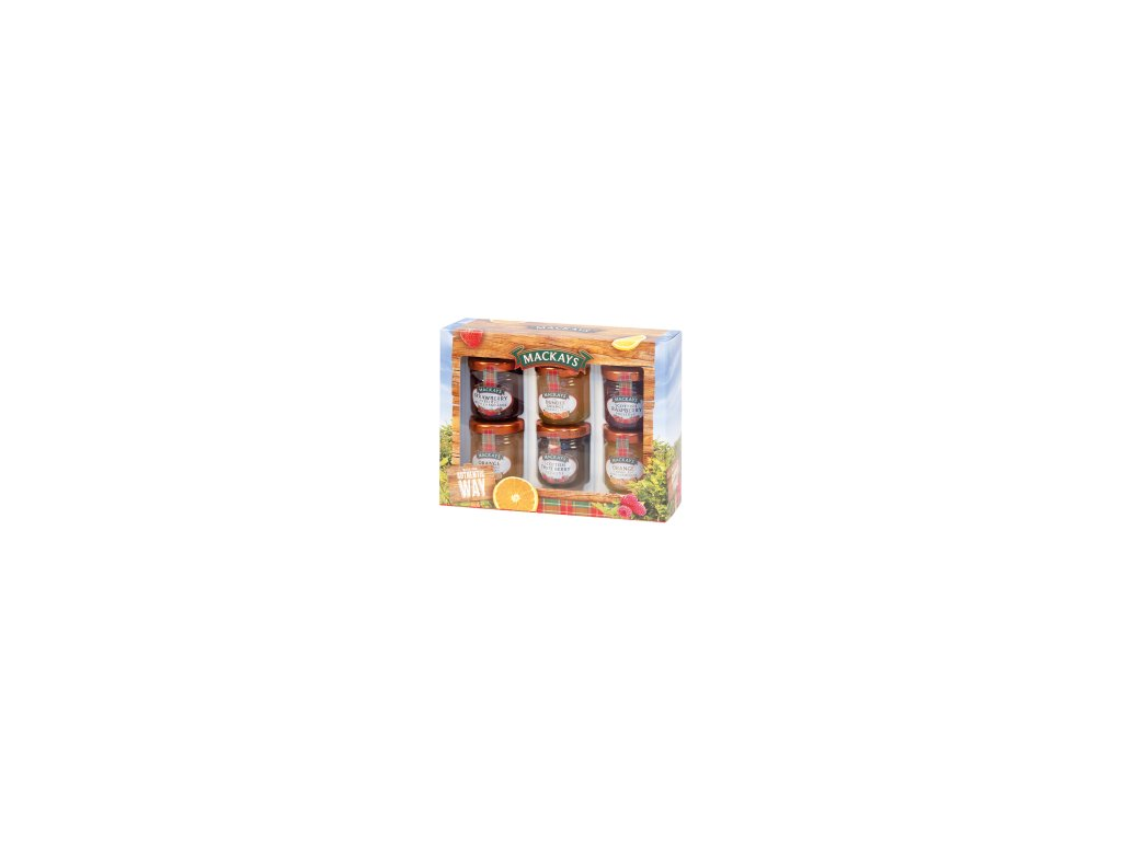 MACKAYS dárkové balení mini marmelád 6x42g