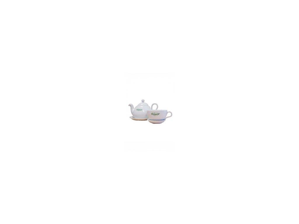 Pickwick - čajová sada z bílého porcelánu
