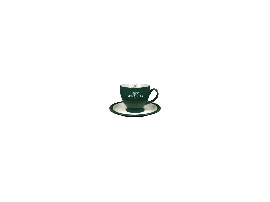 AHMAD TEA LONDON Šálek na čaj s podšálkem