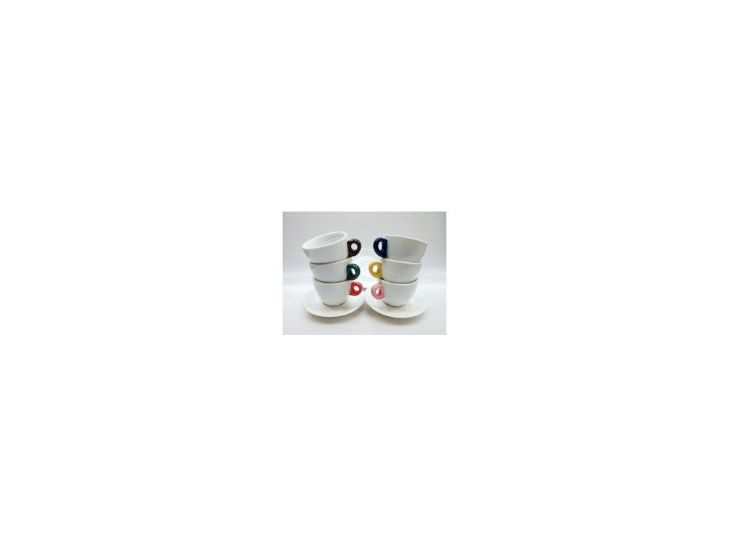 CLUBHOUSE šálky cappucino s podšálkem GIACINTO GOCCE sada 6 ks