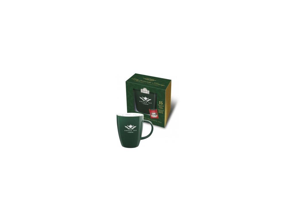 Čaj AHMAD TEA LONDON  dárkové balení hrnečku s čaji 15 ks