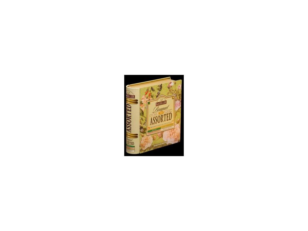 Čaj Basilur Jarní kniha  dárkové balení zelený čaj porcovaný 32 ks