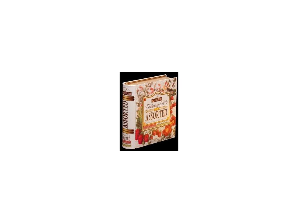 Čaj Basilur Jarní kniha dárkové balení mix zelených a černých čajů porcovaný 32 ks
