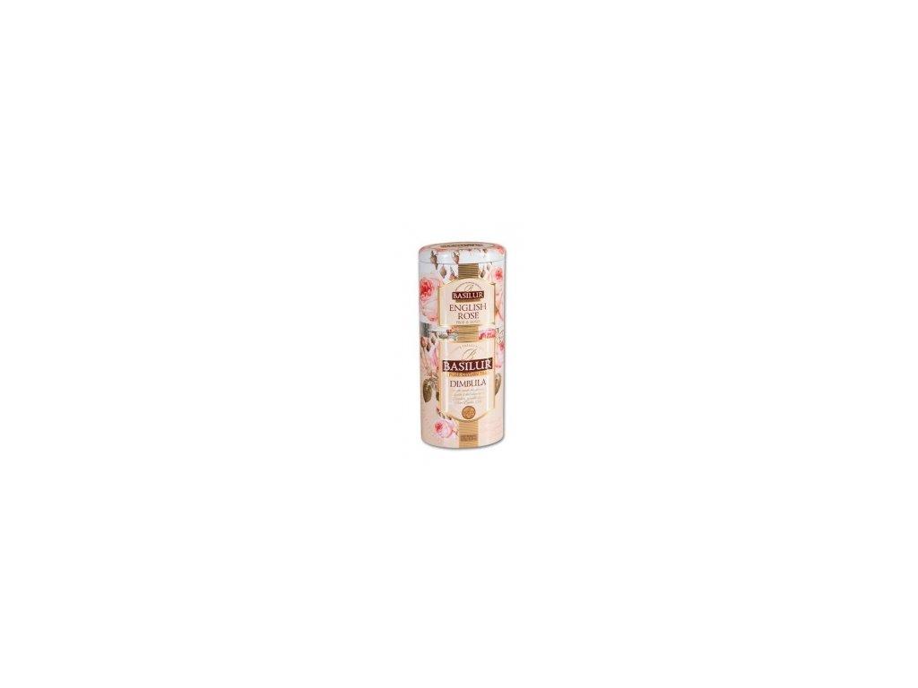 Čaj Basilur-sypaný černý čaj English Rose + Dimbula 50+75g 2v1
