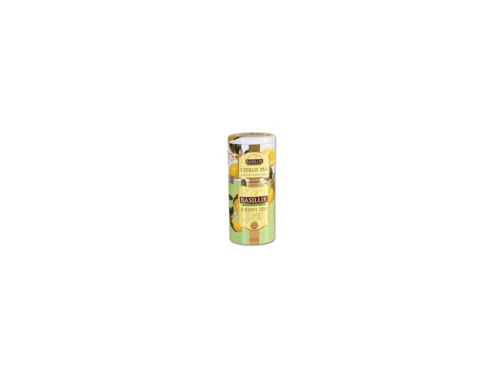 Čaj Basilur-sypaný zelený čaj Citrus + Green 50+75g 2v1