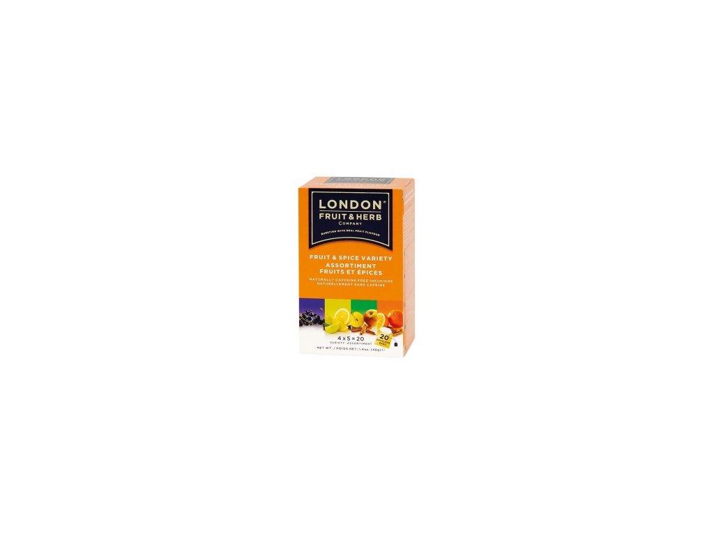ČAJ LONDON FRUIT&HERB - ovocný čaj variace Kořeněné ovoce 20 sáčků