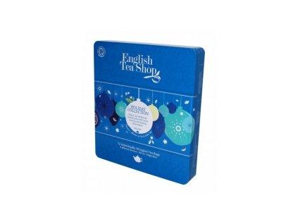 English Tea Shop  Modré vánoční ozdoby v plechové dóze 72 ks