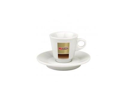 Molinari šálek espresso s podšálkem 1 ks