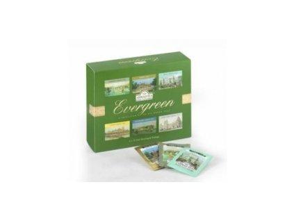 AHMAD TEA LONDON Evergreen - čajový papírový prezentér 60 ks zelené variace