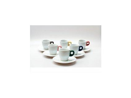 CLUBHOUSE šálky espresso s podšálkem GIACINTO GOCCE sada 6 ks