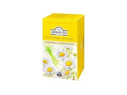Čaj AHMAD TEA LONDON - Heřmánek a citrónová tráva- porcovaný 20 ks