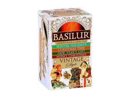 Čaj Basilur Vintage vánoční balení 20 ks