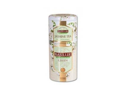 Čaj Basilur-sypaný zelený čaj Jasmine + Green 50+75g 2v1