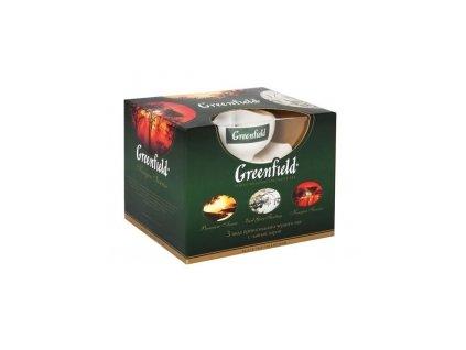 Čaj Greenfield-dárková sada čajů se šálkem 150g