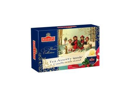 Čaj RISTON Vánoční kolekce čajů 48 ks + vánoční svíčka