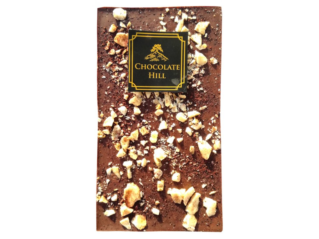 chocolate hill tmava s bananem makadamovymi orechy cokobanka cz 1000