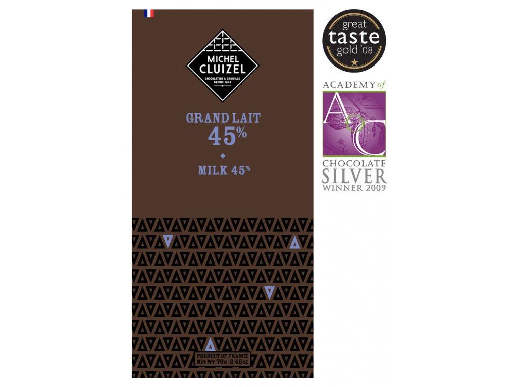 michel cluizel cokolada grand lait 45.cokobanka.cz