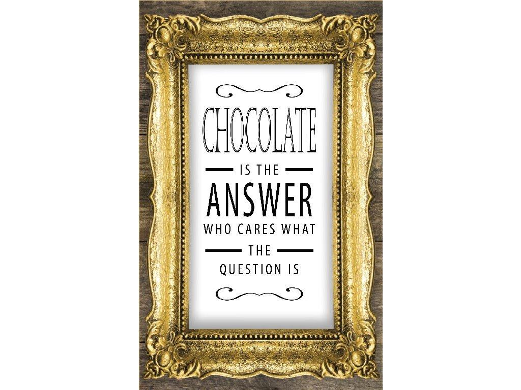 cokobanka darkove pouzdro chocolate is the answer cokobanka cz 768