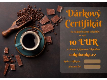darkovy certifikat10EU cokobanka cz