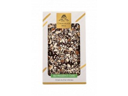chocolatehill tmava cokolada bezcukru s vlasskymi a liskovymi orechy