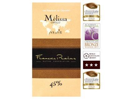 Mléčná čokoláda Francois Pralus Mélissa 45%