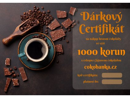 darkovy certifikat1000Kc cokobanka cz