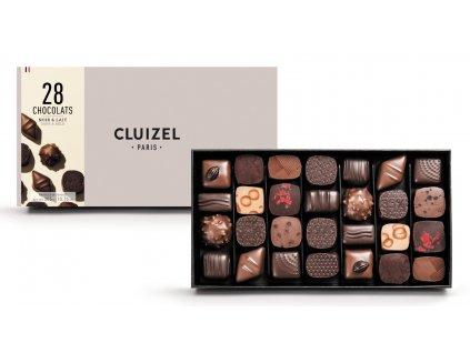 michel cluizel bonboniera chocolats noir a lait 28 cokobanka 768
