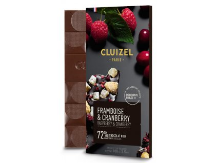michel cluizel tmava cokolada s malinami a brusinkami 72 cokobanka 768