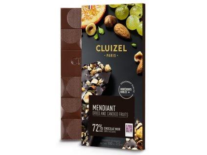 michel cluizel tmava cokolada mendiant se susenym ovocem 72 cokobanka 768