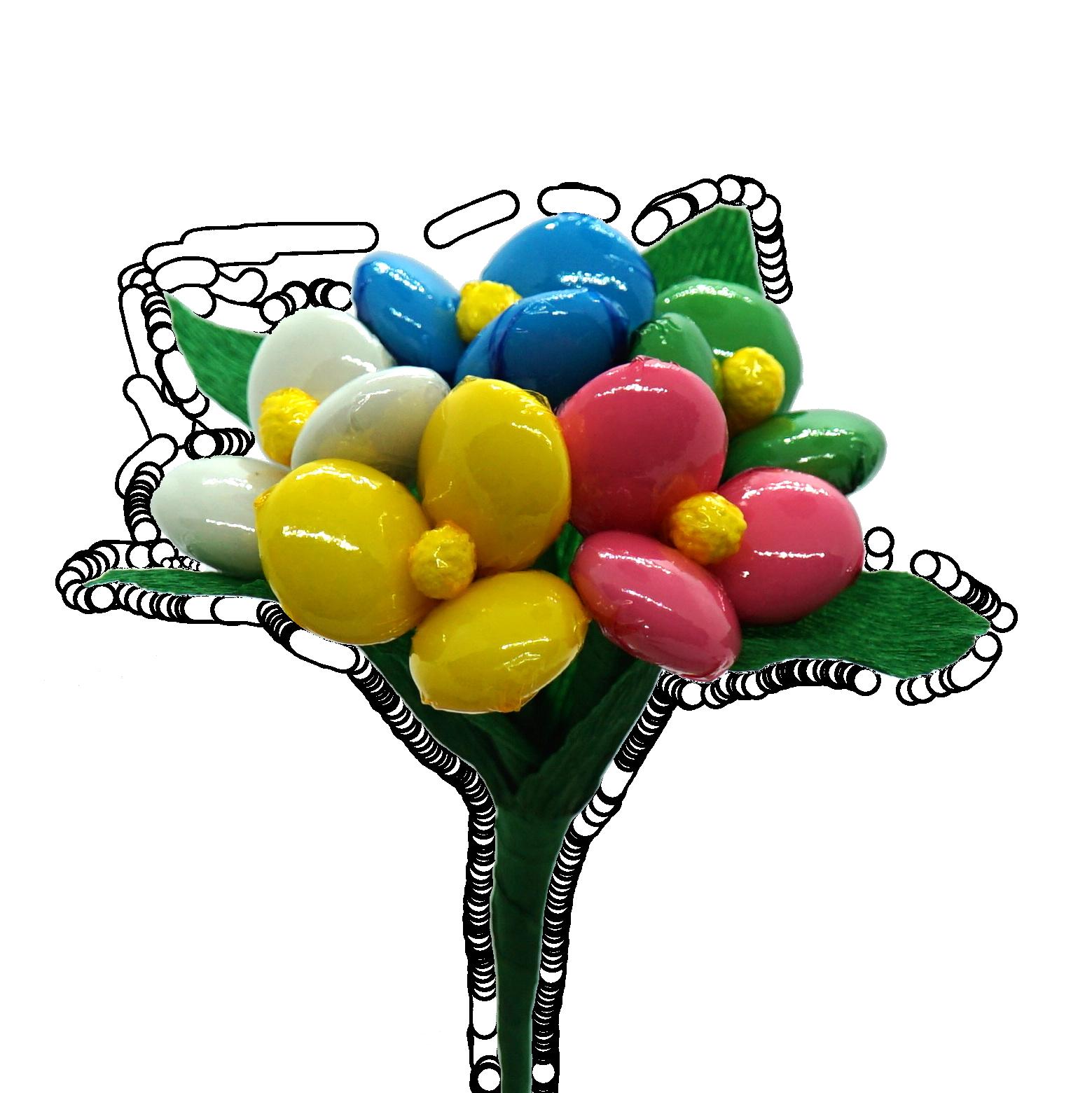 Květiny s čokoládou (bez ořechů a mandlí)