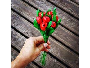 Kytice červených tulipánů